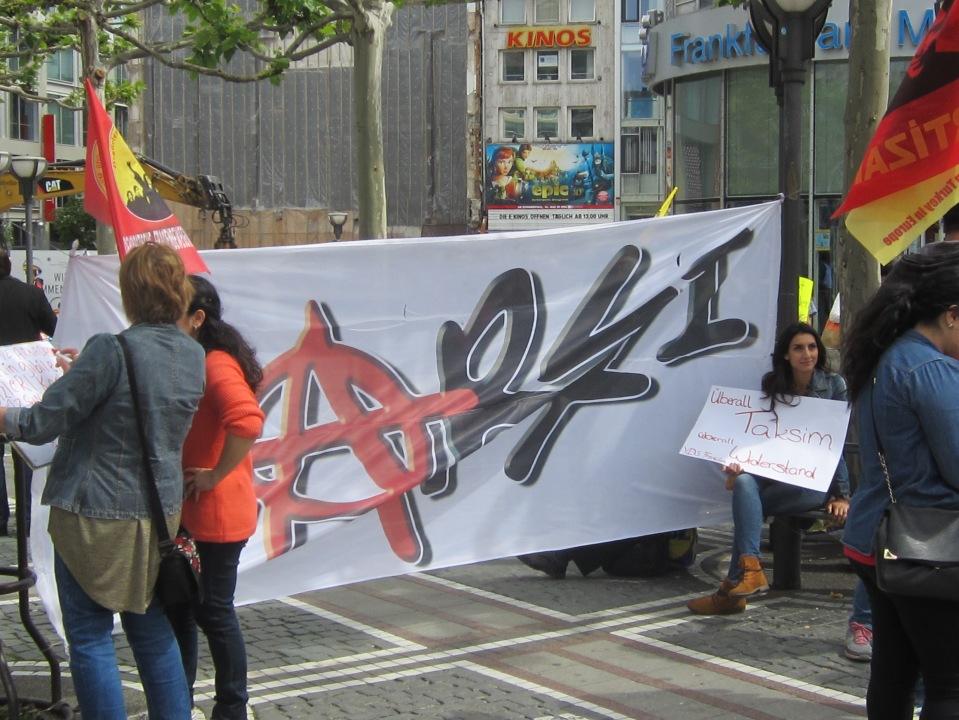 Demo, Hauptwache Frankfurt