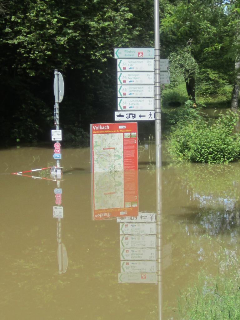 Volkach: Hochwasser im Juni 2013