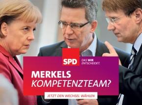 "SPD Motiv: ""Merkels Kompetenzteam?"""