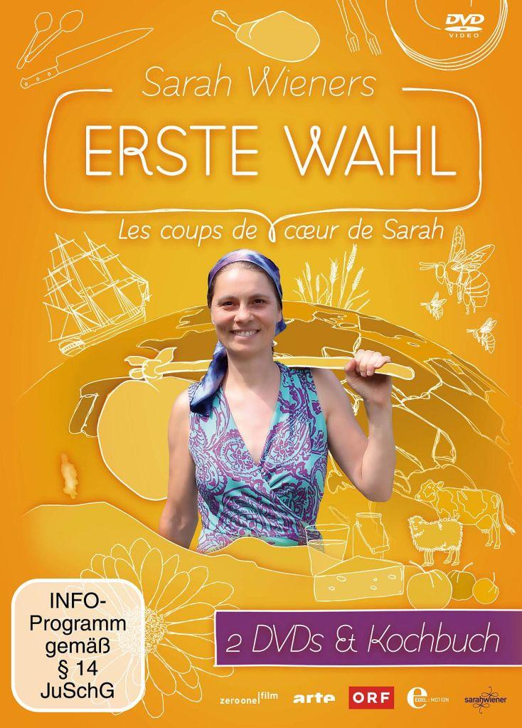 Sarah Wieners erste Wahl. 2 DVDs und Buch, 7 Stunden Spielzeit und über 32 Seiten Rezepte