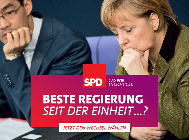 SPD Motiv: Beste Regierung seit der Einheit...?
