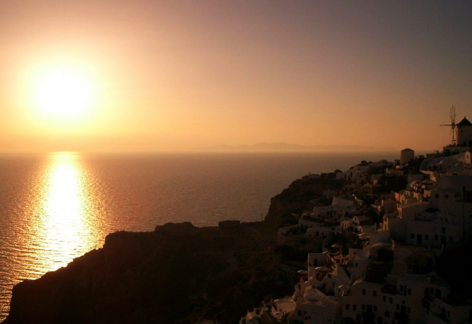 Sunset Point in Oia auf Santorini