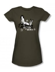 Bettie Page Militär-T-Shirt